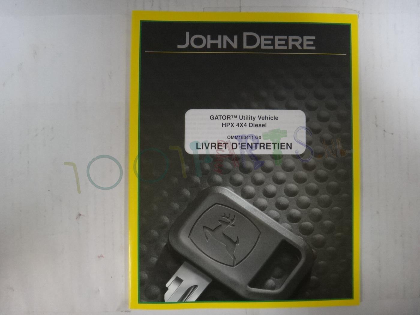 livret dentretien hpx 4x4 francais omm163411 handleiding perkbv john deere diesel koop. Black Bedroom Furniture Sets. Home Design Ideas